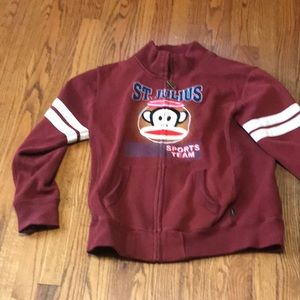 Paul frank heavy sweat shirt zip up xl